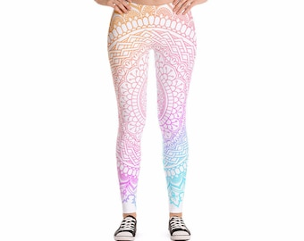 Free Spirit Bright Yoga Leggings, Women's Pants for Workouts and Running