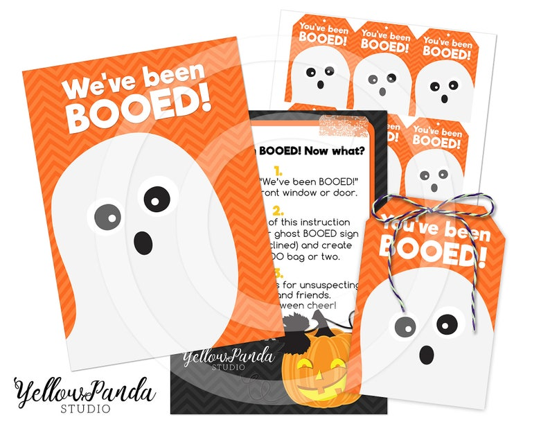 image about You've Been Booed Printable referred to as Youve Been BOOED! Halloween Printable, Boo Package, Youve Been Booed Printable, Halloween Tags, Prompt Down load