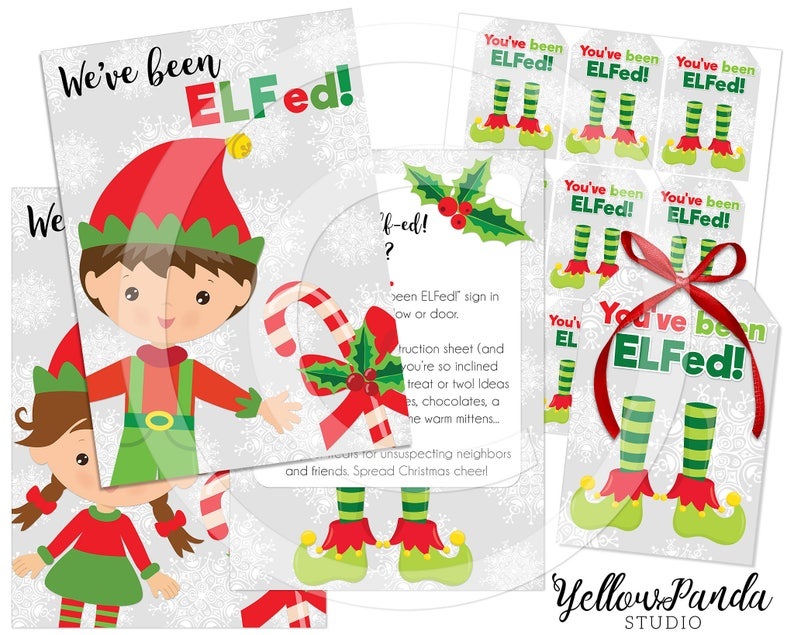 graphic regarding You Ve Been Elfed Printable referred to as Youve Been ELFed! Xmas Printable, Elf Package, Youve Been ELFed Printable, Xmas Tags, Family vacation Tag, Quick Down load