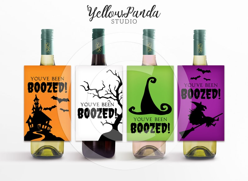 image relating to You've Been Boozed Printable named Youve Been BOOZED! Halloween Printable, Boo Package, Wine Bottle Printable, Wine Bottle Tags, Immediate Obtain