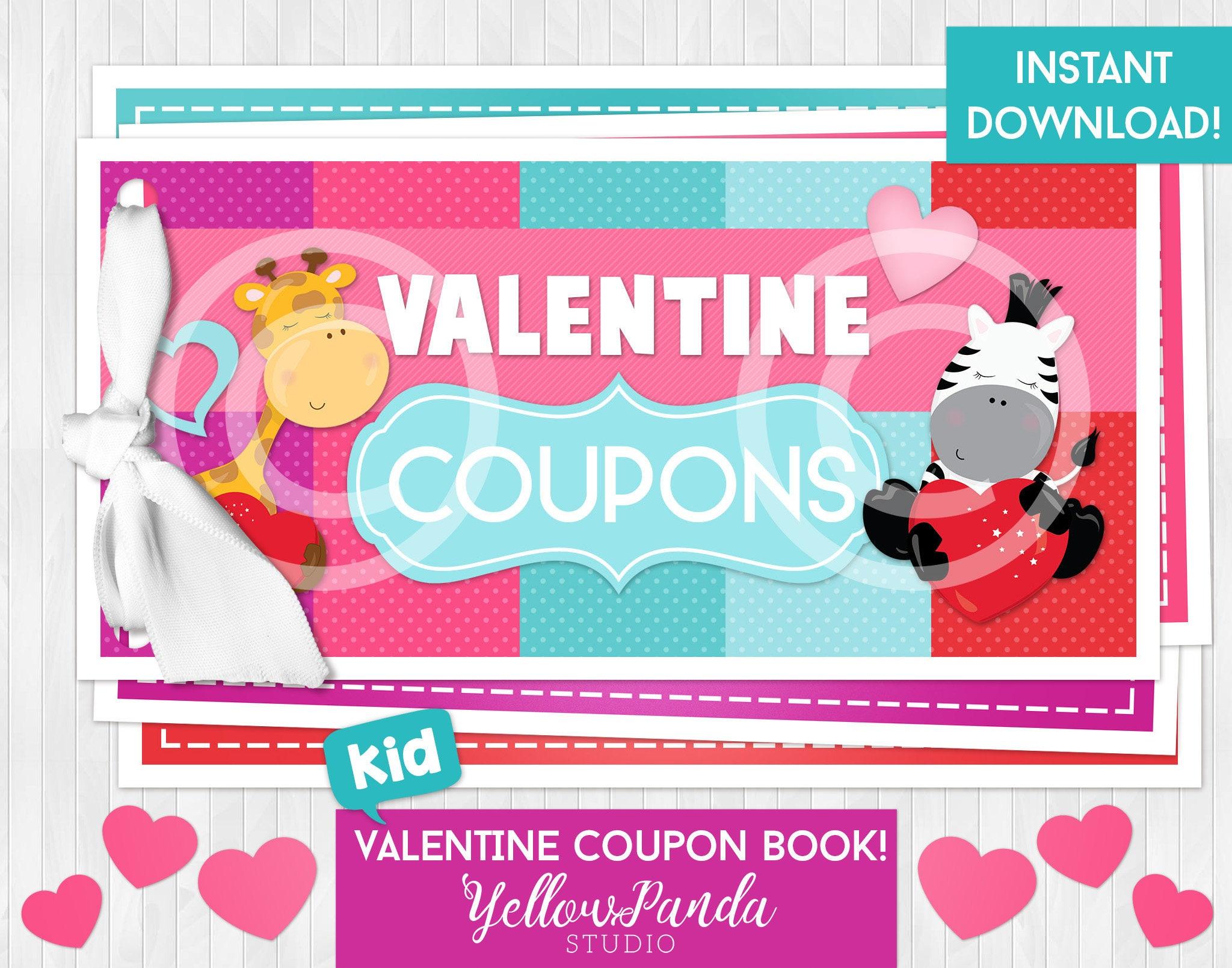 Printable Valentine Coupon Book Valentine Coupons Valentine   Etsy