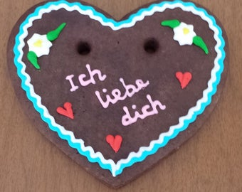 12 - 4 inch - Gingerbread Heart (Lebkuchen) Decorated Cookies - Oktoberfest, Engagements, Bridal Shower, Anniversary party, Special Occasion