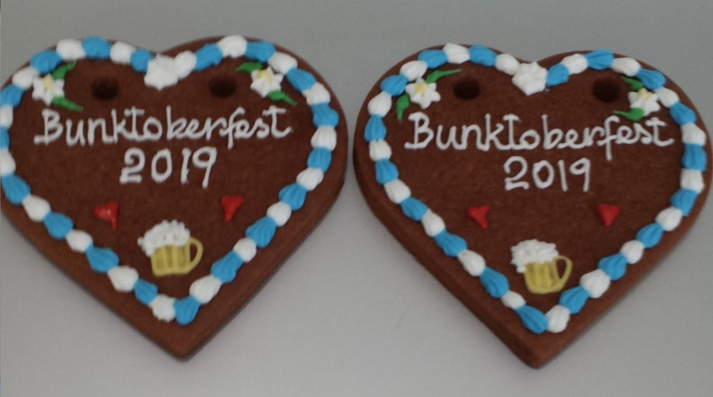 12 4 Inch Gingerbread Heart Lebkuchen Decorated Cookies Oktoberfest Engagements Bridal Shower Anniversary Party Special Occasion