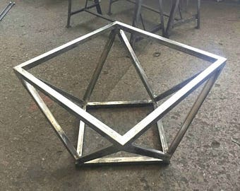 Gentil Metal Coffee Table Base, Steel Coffee Table Base, Modern Coffee Table,  Geometric Table, Welded Coffee Table Base, Industrial Iron Table