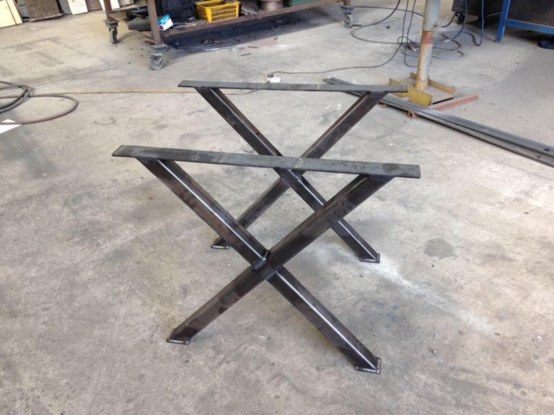 Metal X Coffee Table Legs Steel Coffee Table Legs Modern ...