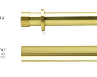 Brass Curtain Rod Custom Cut Lengths 1 3 8 Diameter Drapery Hardware Gold Extra Long Lucite Finial