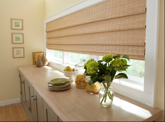 Extra Wide Window Shade Woven Shades Custom Woven Wood