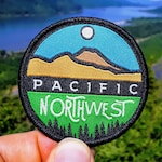 Pacific Northwest Patch - PCT Style | FREE Shipping. Great Pacific Northwest. Gifts from Oregon. PNW patch. Cascadia.