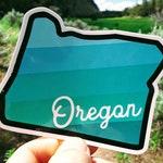 Oregon Gradient Sticker | Pacific Blue | Free Shipping | Explore the PNW | Oregon bumper stickers | Perfect Oregon gifts | PCT Sticker