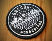 Oregon Pacific Wonderland Patch. Free Shipping. Iron-On Patch. VW Bus Patch.
