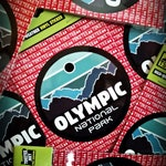 Olympic National Park Sticker | FREE SHIPPING. National Park Stickers. Upper Left Sticker. PNW Sticker.