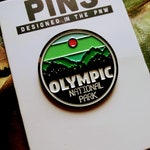Olympic National Park Pin | FREE SHIPPING | PNW Pins | Hoh Rainforest | Hurricane Ridge | Puget Sound Pin | Mt Olympus | Gift for Hikers