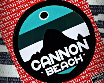 Cannon Beach Sticker   FREE SHIPPING. Haystack Rock. Oregon Coast Sticker. Haystack Rock logo. Oregon state parks. Oregon icons. PNW decal