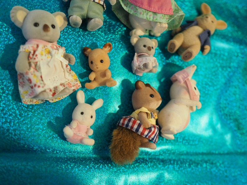 lot of animal figurines koala mouse from 2018 bunny