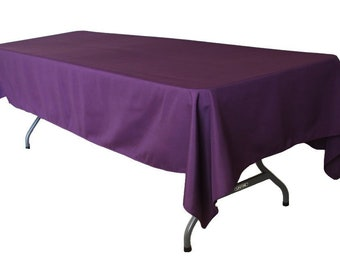 Genial Plum Polyester Tablecloth | Square Or Rectangular | Wedding Tablecloth,  Banquet Table Cover, Event U0026 Party Linen