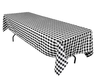 Exceptionnel Black And White Checker Polyester Tablecloth | Square Or Rectangular |  Wedding Tablecloth, Banquet Table Cover, Event U0026 Party Linen