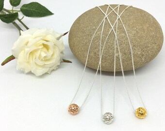 Silver Necklace, Bridesmaid, Rose Gold Necklace, Gold Necklace, 18th, 21st, Birthday, Wife, Girlfriend, Sister Wedding, Filigree, Friend
