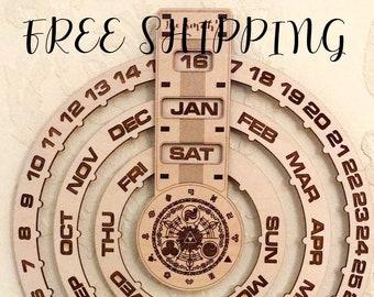 Perpetual Calendar Etsy