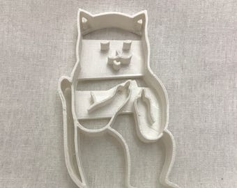 cat with middle finger cookie cutter/adult humor/cookie cutters/cutter/baking/fondant/gift for her/cookies/mature/funny cookie cutter
