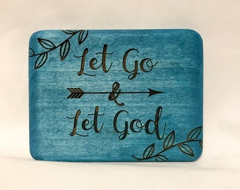 Let Go Let God Quote Etsy
