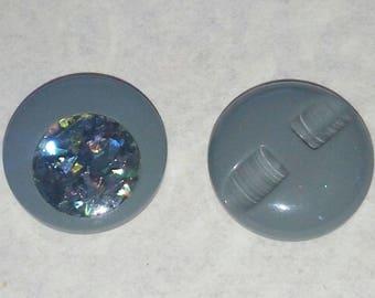 BIG buttons grey gradient SEQUIN VINTAGE 23 mm