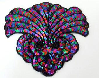 BEAUTIFUL APPLIQUE SEQUINS beads 16 x 15 CM