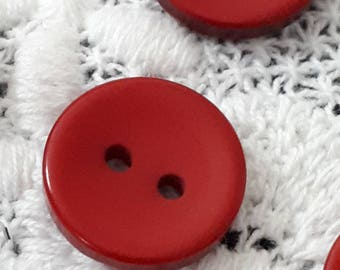 set of 5 bright white buttons 18 mm sewing or scrapbooking