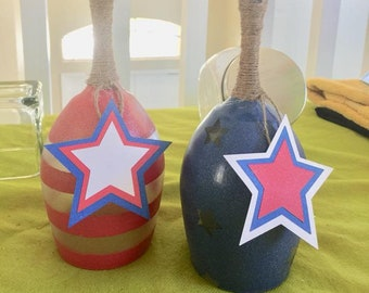 4th of July Tea Light Candle Holders