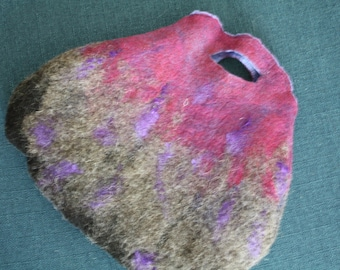 hand felted wool hand bag