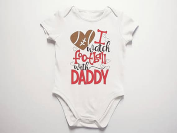 Arizona Cardinals Watching With Daddy Baby Short Sleeve Bodysuit