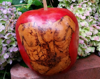 Gourd Adam & Eve Hand Painted/Burned