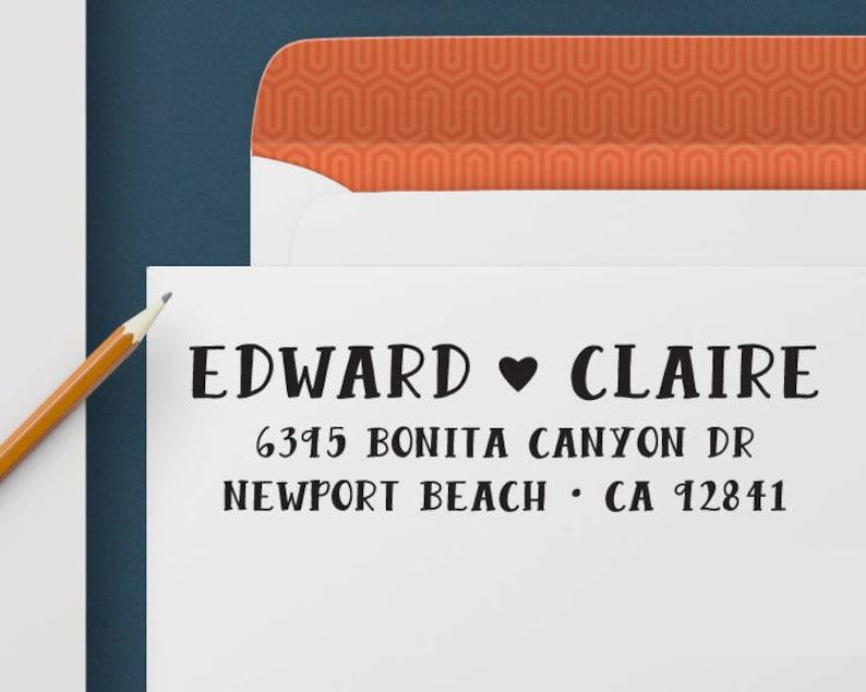 Personalized Address Stamp Custom Address Stamp 365 Self Inking Stamp Return Address Stamp Wedding and Housewarming Gift Custom Stamp