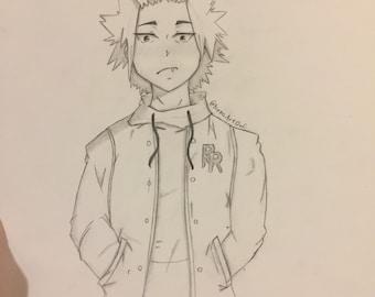 Kirishima eijiou drawing from hero academia