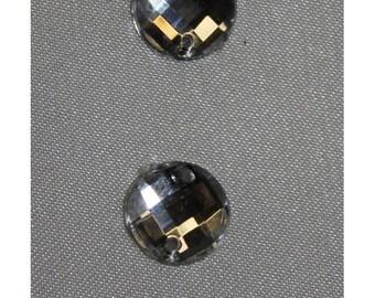 round rhinestones - 11 mm - silver