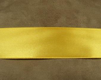 SATIN Ribbon - 4 cm - mustard yellow