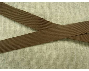 gros grain-15 mm - Brown Ribbon