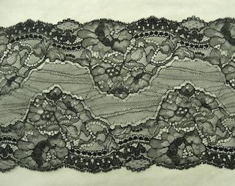 LACE of CALAIS - 17 cm - black