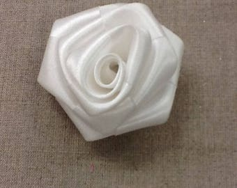 White satin flower rigid