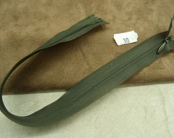Invisible zipper 30 cm - KHAKI Green