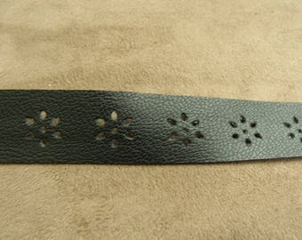 Ribbon black leatherette 2 CM