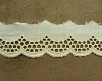 BRODERIE ANGLAISE ecru - 4.5 cm