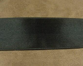 SATIN Ribbon - 4 cm - black