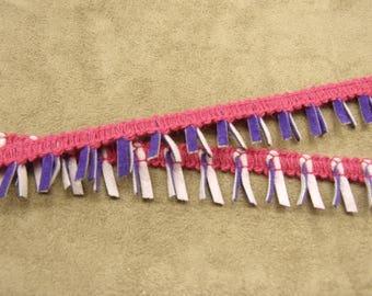 Ribbon fantasy-2 cm-fuchsia - purple & purple