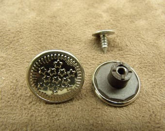 Jean - 17 mm - Silver Star button