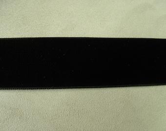 3 velvet Ribbon, 5 cm - black