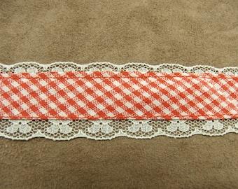 FANCY GINGHAM Ribbon - 3 cm - pink