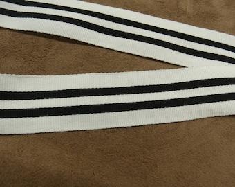 MILITARY Ribbon - 3 cm - black & white