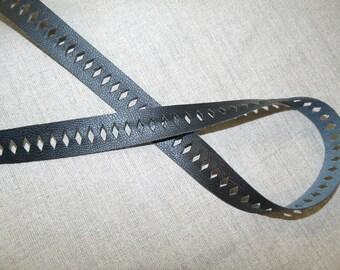 Ribbon 2 CM black leatherette