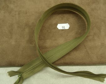 Invisible zipper - 50 cm - KHAKI Green