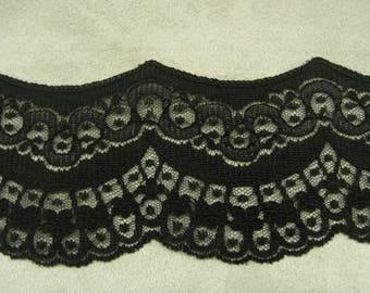LACE of CALAIS - 6 cm - black